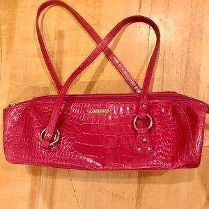 Ralph Lauren leather pink snake print bag-vintage